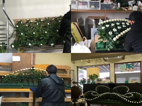 生花祭壇の技術を身につける過程はストーリーそのもの