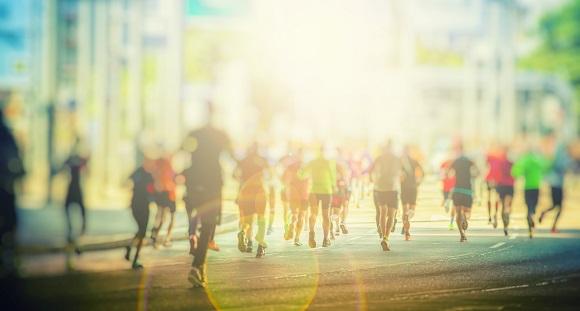 生花祭壇はフルマラソン、生花祭壇のデザインはマラソンコース